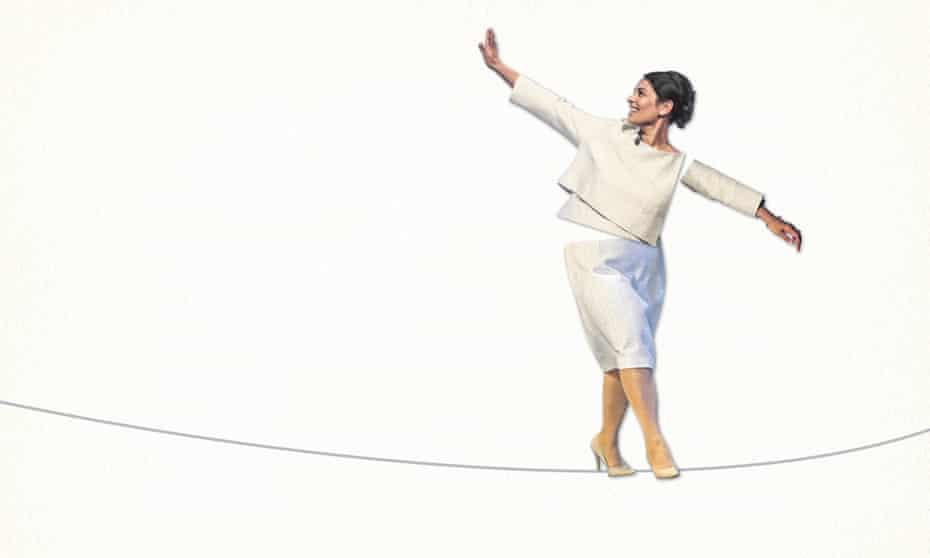 Priti Patel on a tightrope