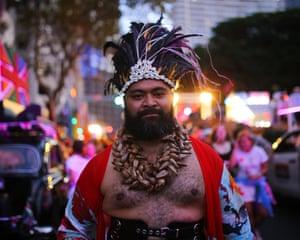 Joseph-Zane Sikulu at the parade