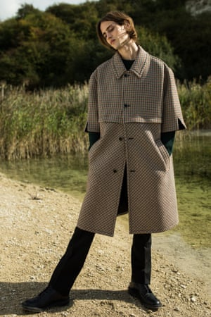 Coat £1,265, jumper £465, and trousers £490, all Raf Simons (brownfashion.com)