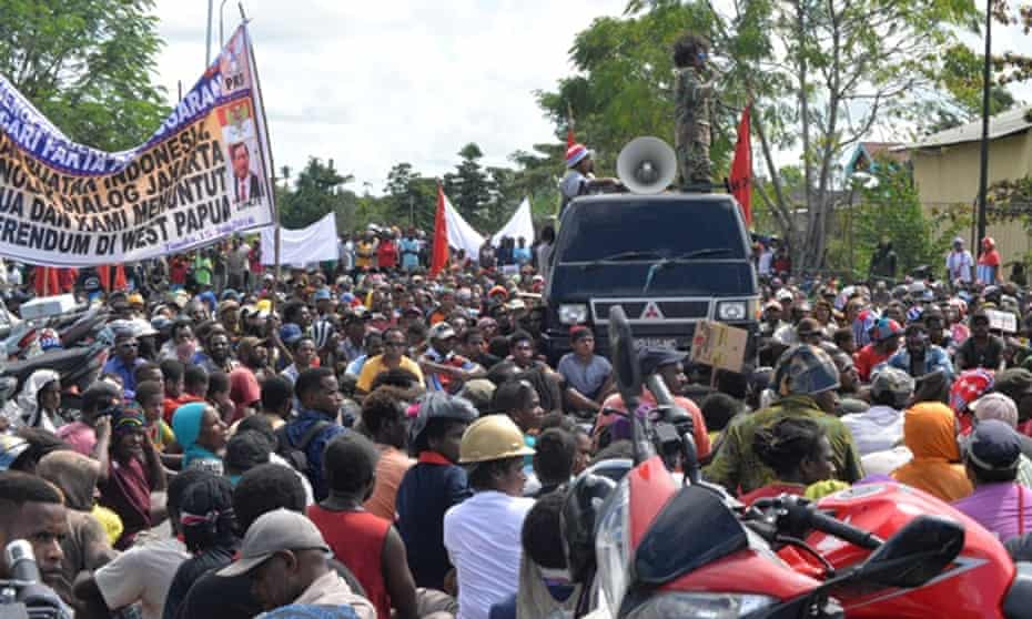 Independence campaigners have been jailed in Papua for opposing the rule of Indonesia.