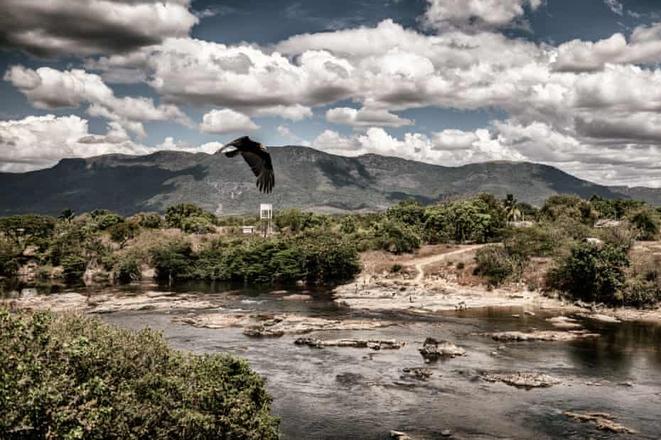 A view of the river Surumu from the bridge at the entrance of the Raposa Serra do Sol indigenous territory.