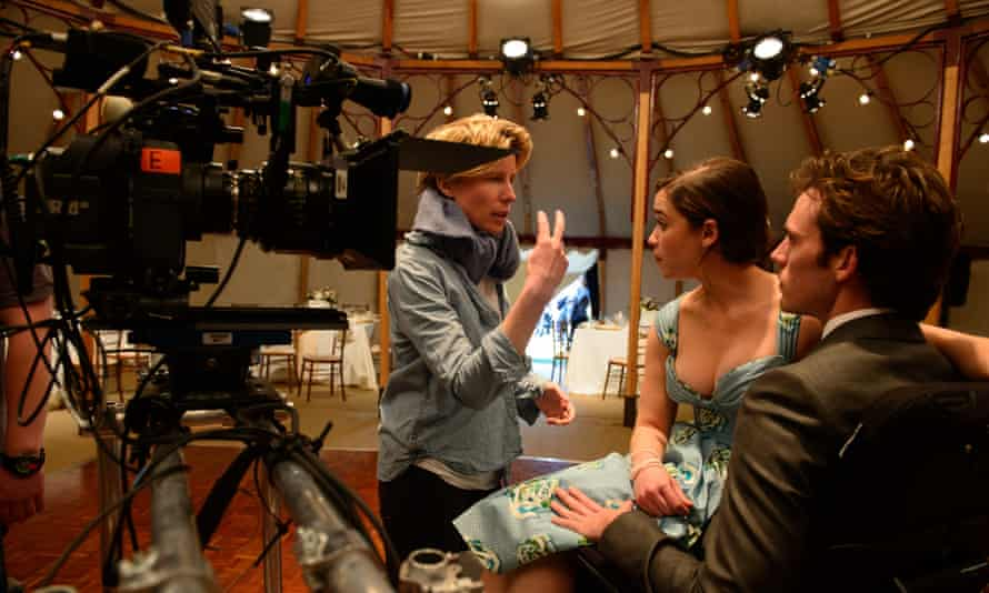 Thea Sharrock directing the film Me Before You