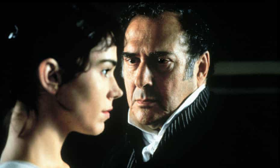 The playing's the thing ... Frances O'Connor and Harold Pinter in Mansfield Park.
