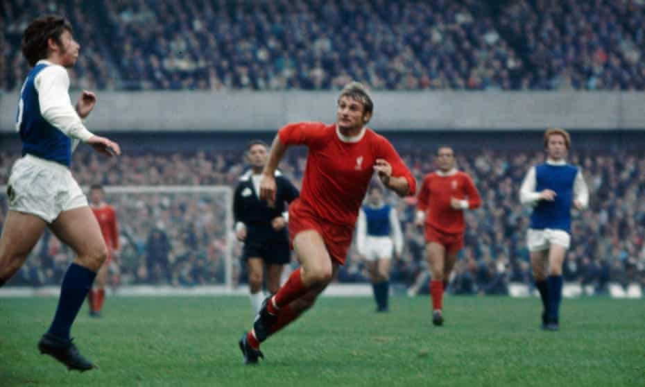 Roger Hunt, centre, playing for Liverpool against  Sheffield Wednesday in 1969.
