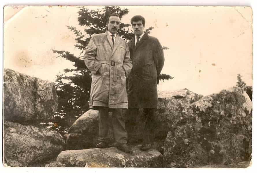 Fehmi (right) with his best friend Yorgo Fotiadis
