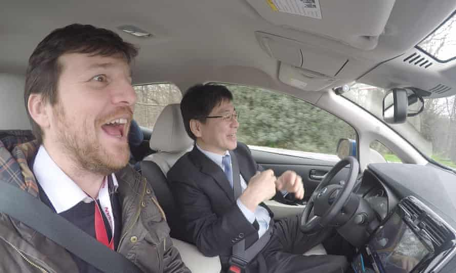 Hands-off: Guardian's Gwyn Topham goes for a spin in a driverless car.