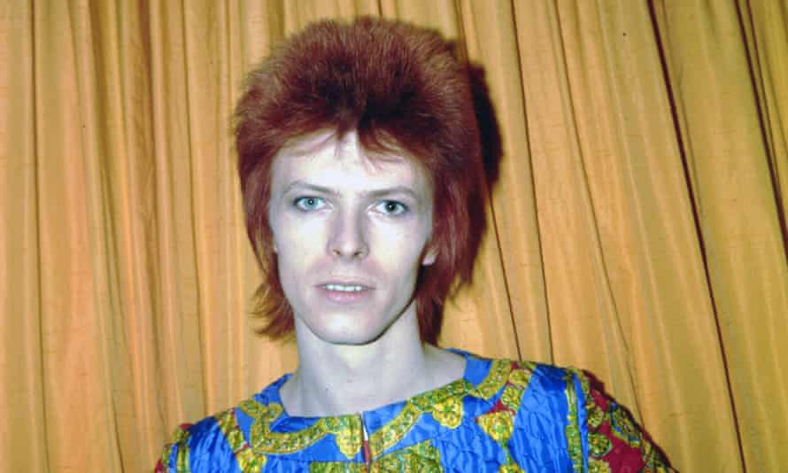 'I had red hair and I hated it' ... until Bowie, pictured in New York City in 1973.
