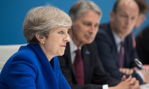 Theresa May at a meeting during the G20 summit on 7 July
