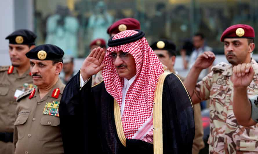 The former Saudi crown prince Mohammed Bin Nayef, pictured in September 2016