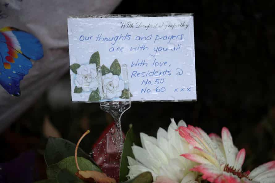 A makeshift memorial honouring residents who recently died from the coronavirus disease (COVID-19) at Newmarch House, an aged care home experiencing a deadly outbreak, is seen outside the facility in Sydney, Australia, April 30, 2020.