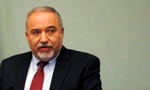 Israel's defence minister Avigdor Lieberman