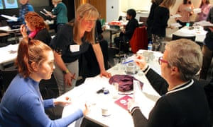 Delegates working with Catherine Millar at Reading for Pleasure 28 March 2019