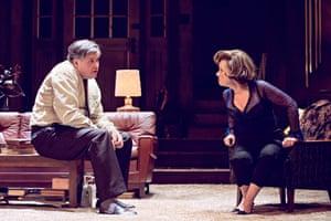 Conleth Hill as George and Imelda Staunton as Martha.