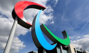 The Paralympic symbol.