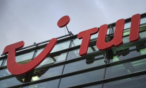 The TUI Group logo is picture outside the venue of the travel and tourism company in Hanover, northern Germany.