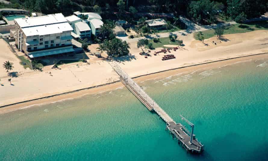 The Tangalooma resort on Moreton Island