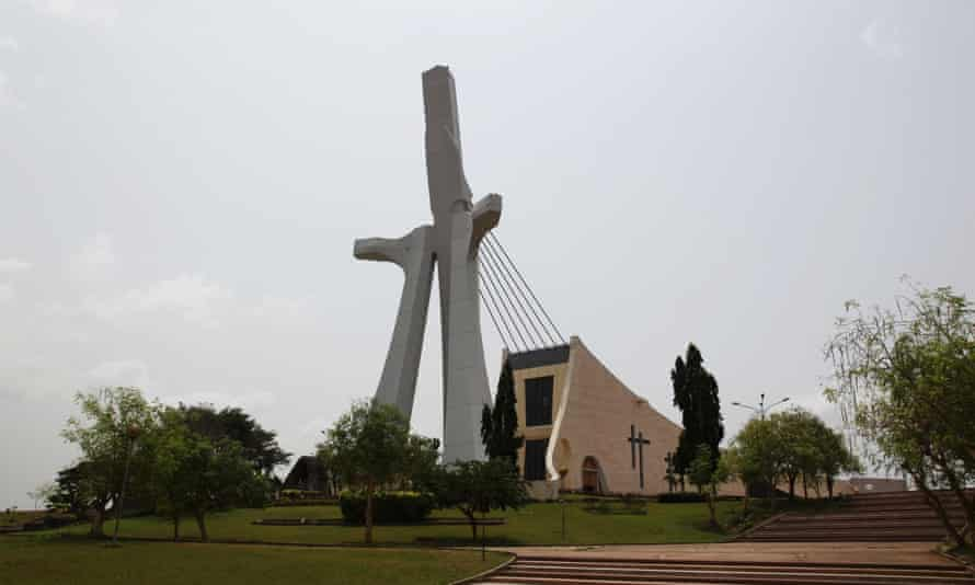 St. Paul's Cathedral in central Abidjan, designed by an Italian architect.