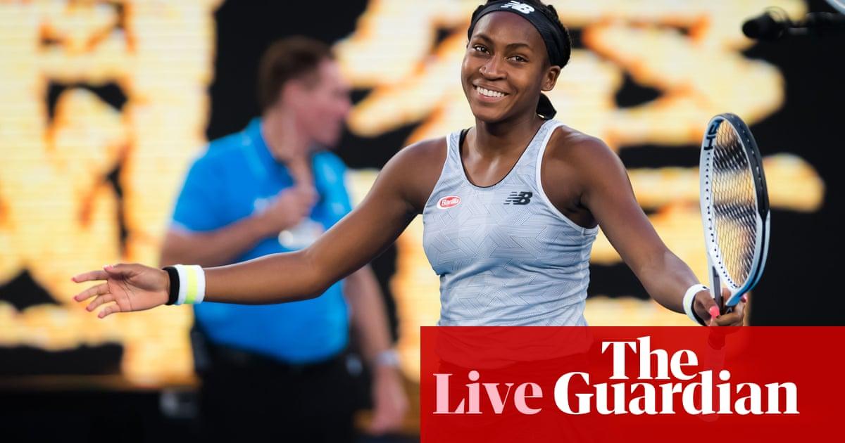 Australian Open:  Coco Gauff beats Naomi Osaka, Federer v Millman – live!