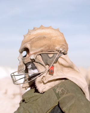 Gerhard, preparing for a Jugger match, a Wasteland contact sport best described as a mix between American football (but the ball is replaced with a dog skull) and the 1990s TV show, Gladiators.