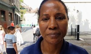 Fatima Djalo, one of the striking cleaners