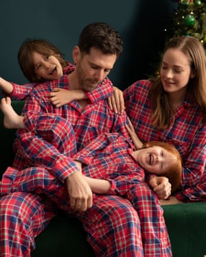John Lewis & Partners Check Cotton Pyjamas, £35 (adults), £19-£25 (children)
