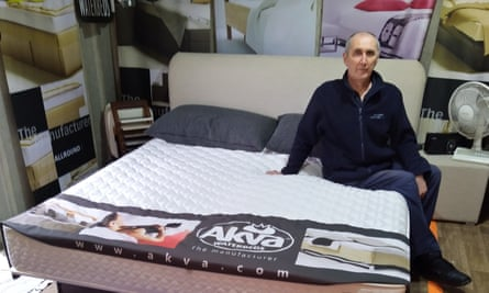 Julian Tandy who runs World of Waterbeds business in Pen-y-groes in Wales