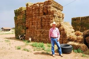 Link Chynoweth on his farm in Escalante.