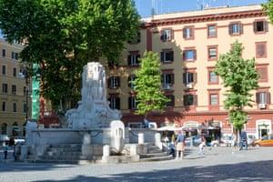 Piazza Testaccio in the Testaccio neighbourhood in Rome.