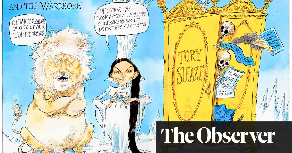 The liar, the witch and the wardrobe – cartoon