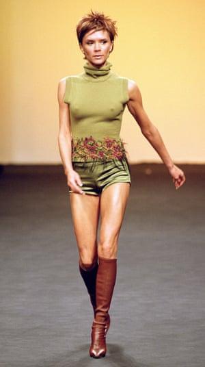 Victoria Beckham walking the catwalk for Maria Grachvogel, 2000.