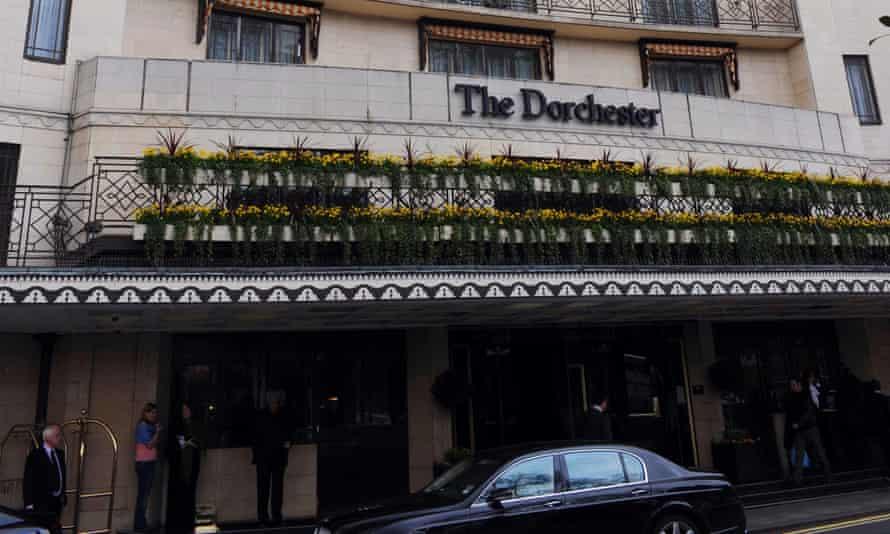 The Dorchester on Park Lane, central London.