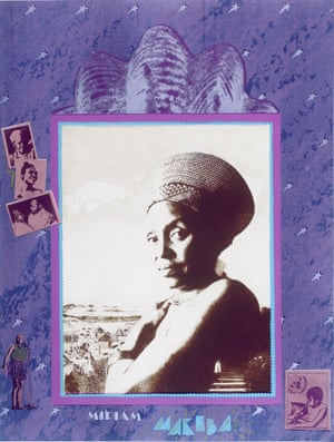 Miriam Makeba, from the series A Few South Africans, 1987, photo-etching and screen-print collage
