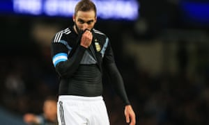 Gonzalo Higuain continues to take the blame for Argentina's ineptitude in front of goal.