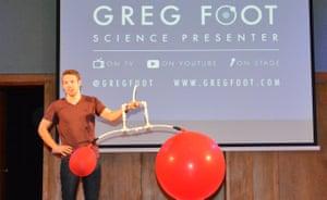 Up next was Greg Foot and his amazing and counter-intuitive balloon demonstration…