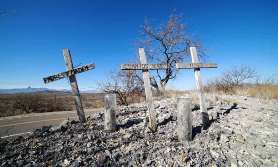 The graves of migrants in Arivaca, Arizona.