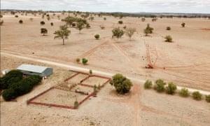 Drought-stricken farm in NSW