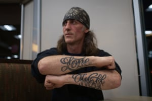 Doug Paton's Lone Wolf tattoo