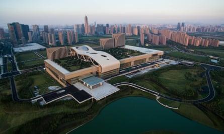 The Hangzhou Olympic and International Expo Center in the Binjiang District of Hangzhou, capital of east China's Zhejiang Province.