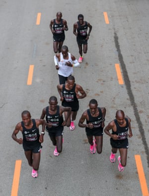 The aerodynamics were painstakingly planned by Kipchoge's support team.