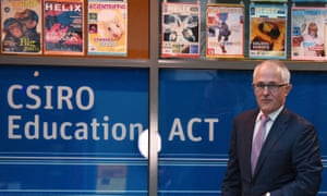 Australian Prime Minister Malcolm Turnbull arrives to announce his Innovation Statement at the Discovery Centre at the CSIRO in Canberra on Monday, Dec. 7, 2015.