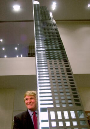 Donald Trump at an announcement for a Toronto building in 2001.