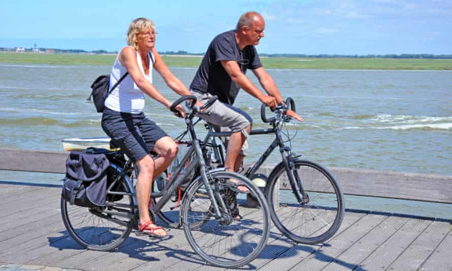 Cycling in Saint-Valery-sur-Somme, France