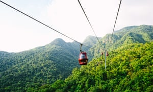 Cable cars can take some of the strain; otherwise it's a climb of at least four hours.
