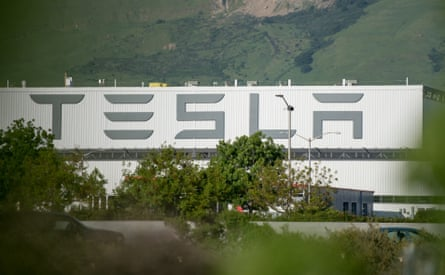 The Tesla factory in Fremont, California. An investigation found the company had kept injuries off its books.