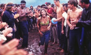 The Woodstock Music festival in August 1969.