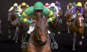The famous JP McManus colours will be carried by four horses in the Virtual Grand National on ITV.