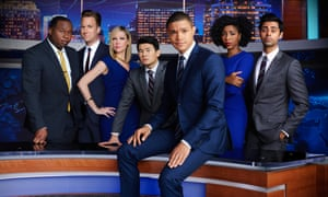 Trevor Noah with the The Daily Show correspondents.