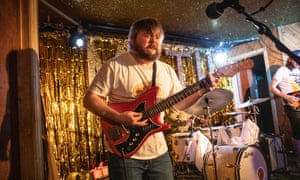 Singer-songwriter Richard Dawson on stage at the Moth Club in east London.