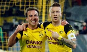 Marco Reus and Mario Götze combined for Dortmund's winner.