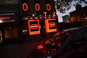 The Ritz Cabaret club in Baltimore's Fells Point neighbourhood. The strip club featured as Avon Barksdale's club 'Orlando's', photograph by JM Giordano